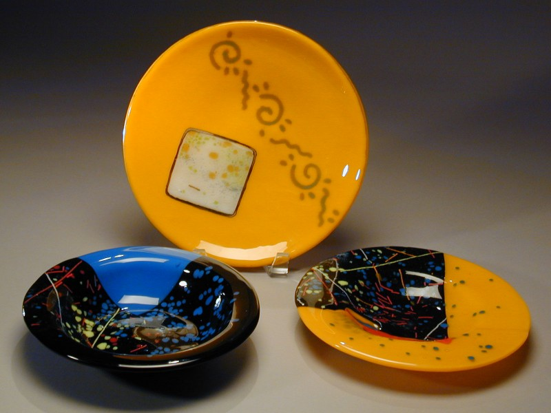 Mardi Gras Series, fused glass bowl, fused glass dish