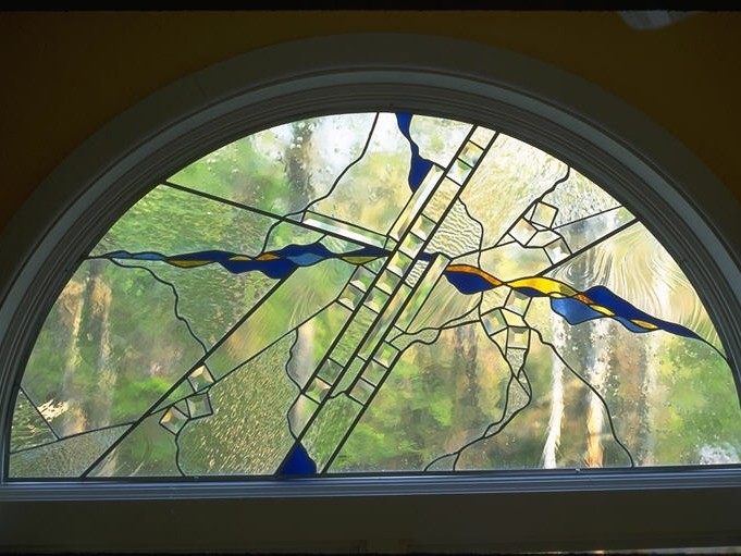 Arch Window, stained glass, residential window